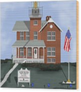 Sea Girt New Jersey Wood Print