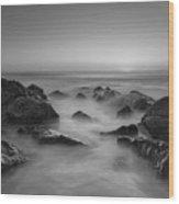 Sea Girt Nj Sunrise Bw Wood Print