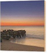 Sea Girt Pilings  Wood Print