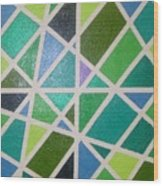 Sea Glass Revisited Wood Print