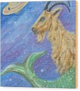Sea Goat Wood Print