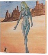 Sea Goddess In Utah Wood Print