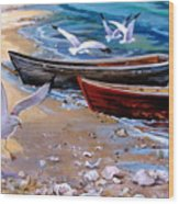 Sea Gull Cove Wood Print