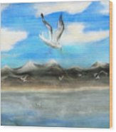 Sea Gulls Wood Print