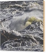 Sea In Turmoil Wood Print