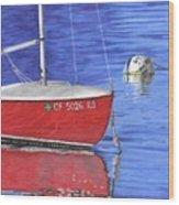 Sea-ing Red Wood Print