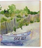 Sea Isle Rescue Boat Wood Print