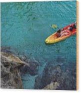 Sea Kayaking Wood Print