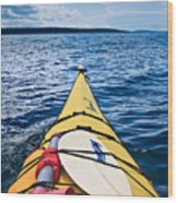 Sea Kayaking Wood Print