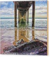 Sea Level Wood Print