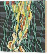 Sea Lightning Wood Print