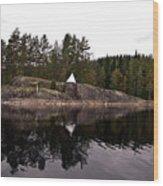 Sea Mark On An Islet At Lake Saimaa Wood Print