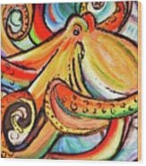 Sea Me Swirl Wood Print