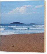 Sea Meets Beach Wood Print