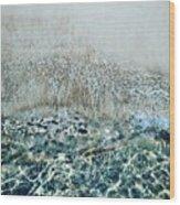 Sea Meets Sand Wood Print
