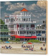 Sea Mist Hotel Wood Print