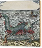 Sea Monster, 16th Century Wood Print