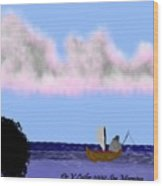 Sea Morning Wood Print