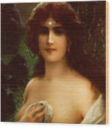 Sea Nymph Wood Print by Emile Vernon