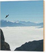 sea of clouds on Pilatus Wood Print