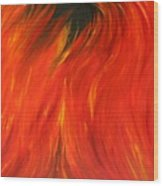 Sea Of Flames Wood Print