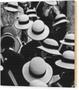 Sea Of Hats Wood Print