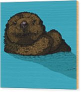 Sea Otter - Full Color Wood Print
