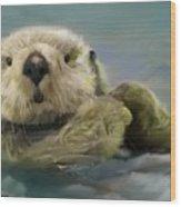 Sea Otter Wood Print by Crispin  Delgado