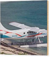 Sea Plane At Dry Tortugas National Park Wood Print