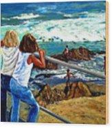 Sea Point Summer Wood Print