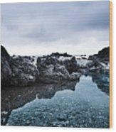 Sea Pond Wood Print