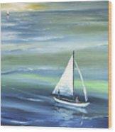 Sea Row Wood Print