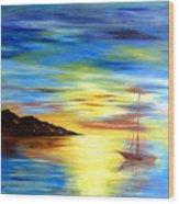 Sea Scape Wood Print