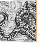 Sea Serpent, 1555 Wood Print