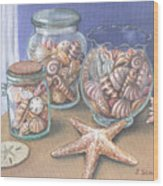 Sea Shell Collection Wood Print