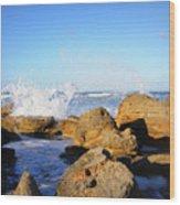 Sea Splash Wood Print