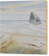 Sea Stack 3 Wood Print
