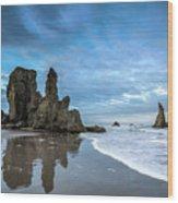 Sea Stacks Wood Print