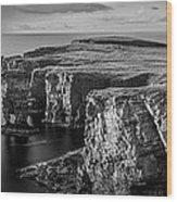 Sea Stacks, Yesnaby, Orkney, Scotland Wood Print