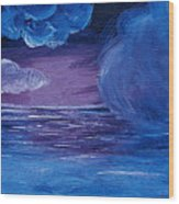 Sea Storm Wood Print by Jera Sky