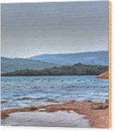 Sea Sun Beach Wood Print