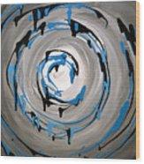 Sea Swirl  Wood Print