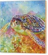 Sea Turtle 3 Wood Print