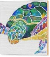 Sea Turtle Celebration 4 Prints Only Wood Print