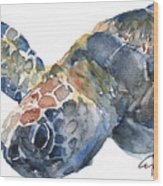 Sea Turtle - Large Size Wood Print