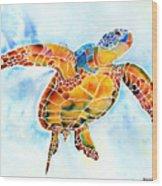 Sea Turtle Gentle Giant Wood Print