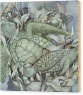 Sea Turtles Mum And Babe Wood Print
