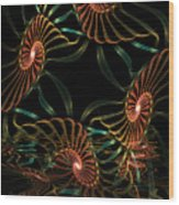 Sea Urchins Wood Print