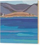 Sea View And Chapel Wood Print