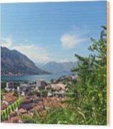 Sea View From Kotor Wood Print